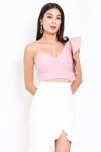 *Premium* Candice Ruffle Top (Light Pink)