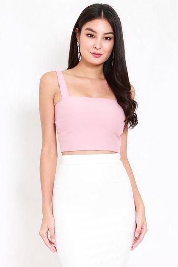 *Premium* Carina Straight Top (Light Pink)