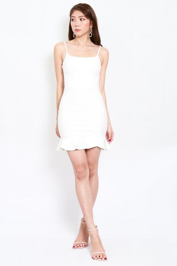 *Premium* Scoop Neck Mermaid Dress (White)