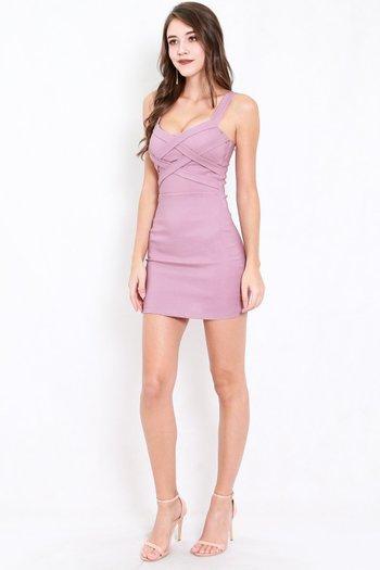 Braided Bodycon Dress (Lavender)