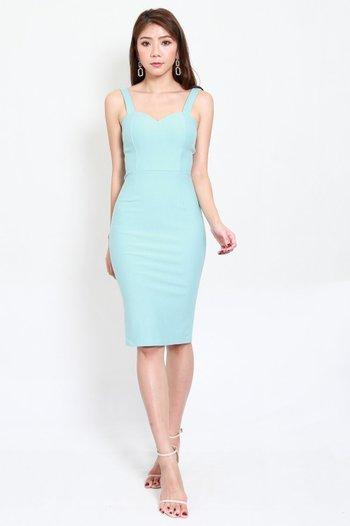 *Premium* Classic Sweetheart Midi Dress (Tiffany Blue)
