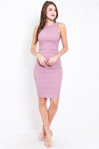 Low Back Midi Dress (Lavender)