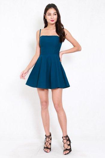 *Premium* Classic Skater Spag Dress (Teal)