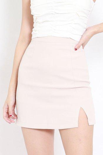 Tina Slit Skirt (Ivory)
