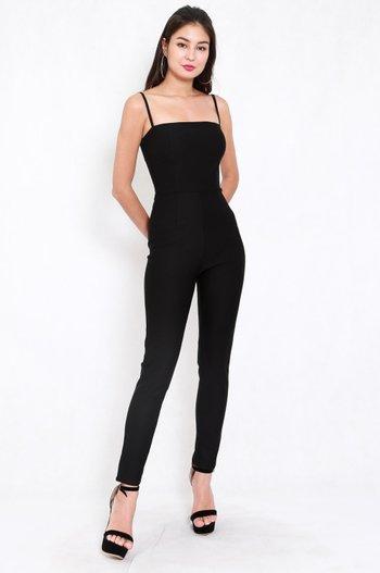 *Premium* Classic Skinny Jumpsuit (Black)