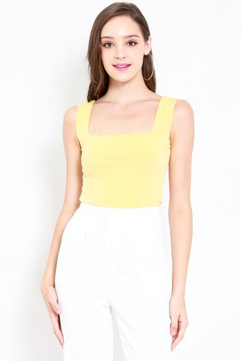 Maddy Square Neck Top (Yellow)