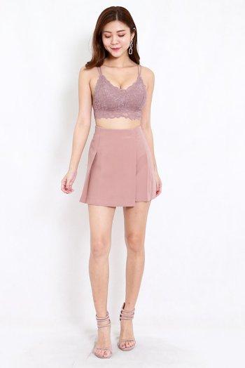Vienna Flap Skirt (Blush)