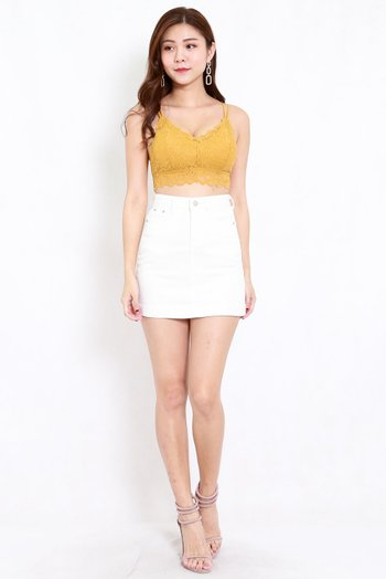 Rikka Lace Bralet (Yellow) *Push Up Effect*