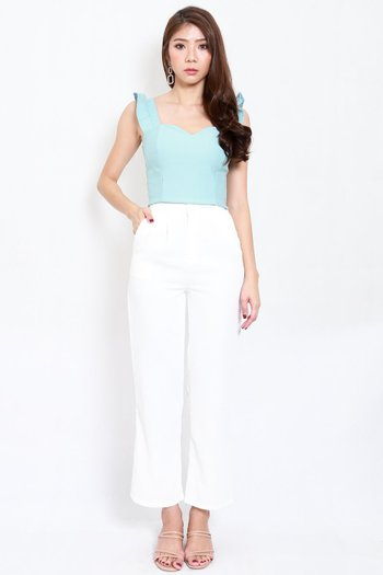 *Premium* Ruffle Sleeve Top (Tiffany Blue)