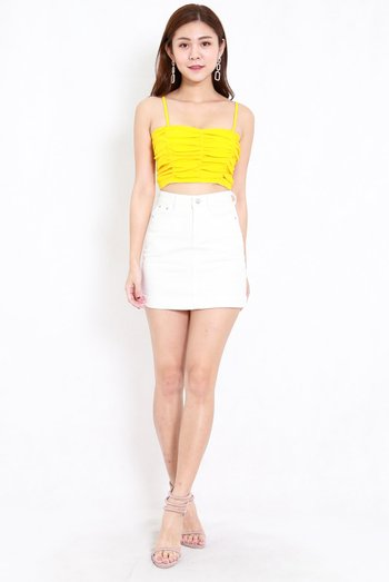 Scrunched Bralet (Yellow)