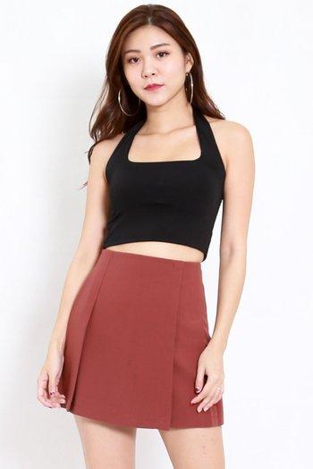 Vienna Flap Skirt (Burnt Orange)