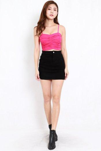 Basic Denim Skirt (Black)