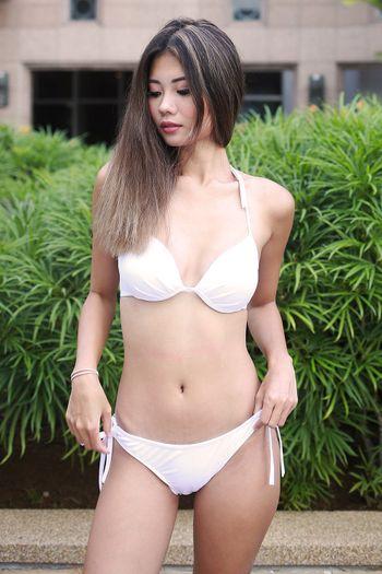 Basic Ribbon Bikini (White)