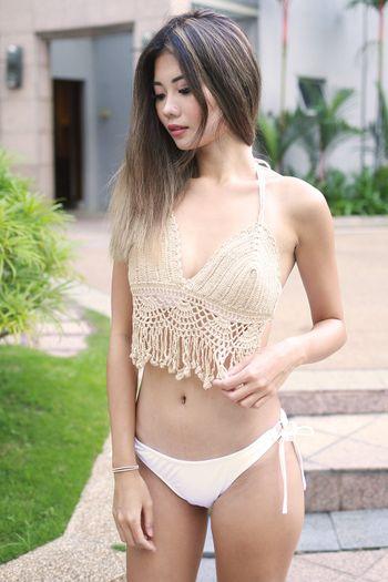Tassel Crochet Overlay (Nude)