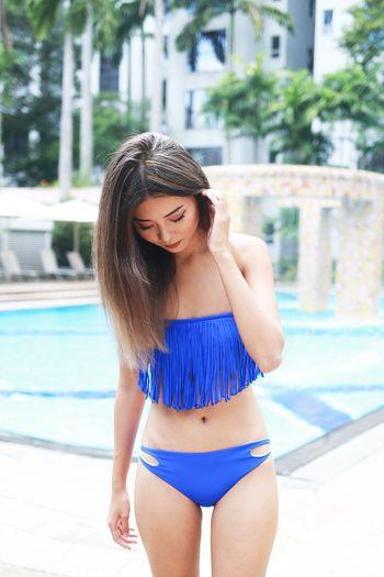 Fringe Bikini (Cobalt Blue)