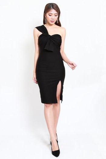 *Premium* Festive Toga Midi Dress (Black)