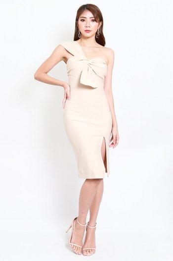 *Premium* Festive Toga Midi Dress (Ivory)