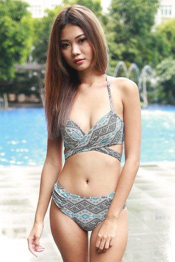 Cross Wrap Bikini (Tribal G)