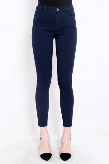 Skinny High Waist Jeans (Dark Blue)