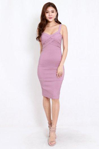 Braided Midi Dress (Lavender)