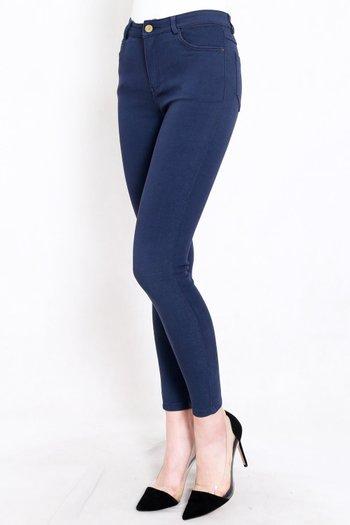 Skinny High Waist Jeans (Medium Blue)