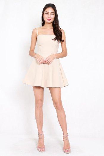 *Premium* Classic Skater Spag Dress (Ivory)