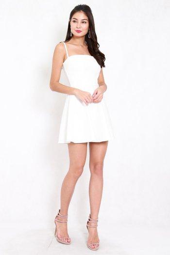 *Premium* Classic Skater Spag Dress (White)