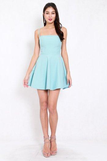 *Premium* Classic Skater Spag Dress (Tiffany Blue)