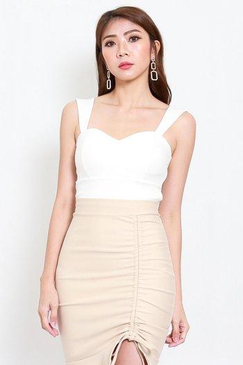 *Premium* Miranda Sweetheart Top (White)