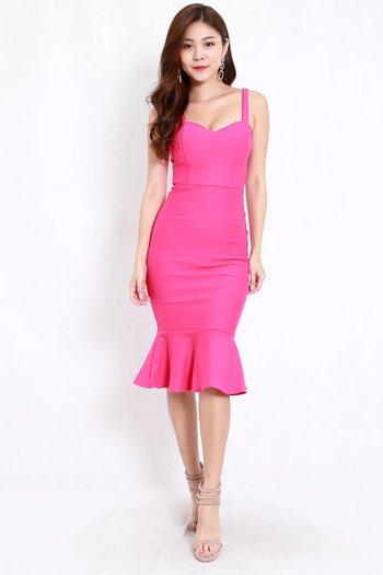 *Premium* Sweetheart Mermaid Dress (Barbie Pink)