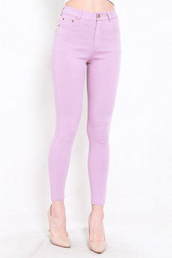 Skinny High Waist Jeans (Lilac)
