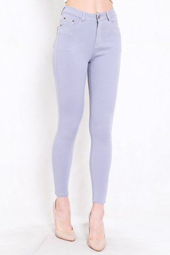 Skinny High Waist Jeans (Grey)