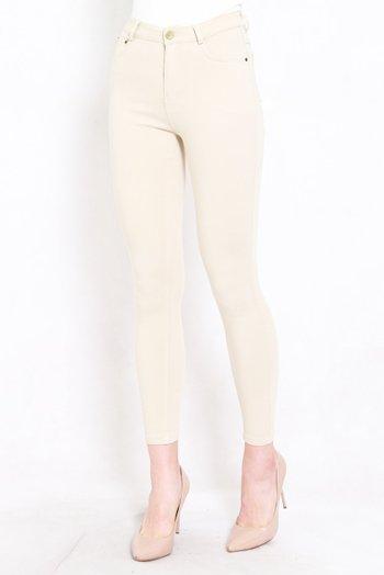 Skinny High Waist Jeans (Ivory)