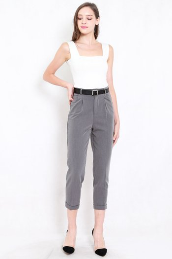 Betty Tapered Pants (Grey)