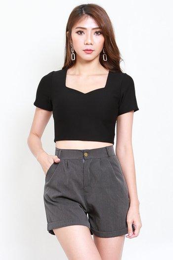 *Premium* Roxy Sleeved Top (Black)
