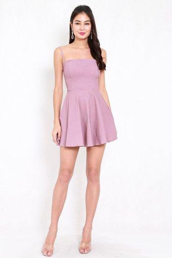 Classic Skater Spag Dress (Lavender)