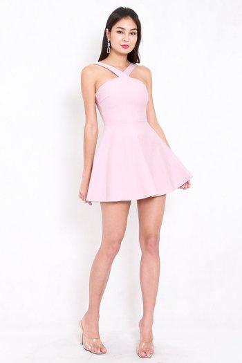 *Premium* Roselle Skater Dress (Light Pink)