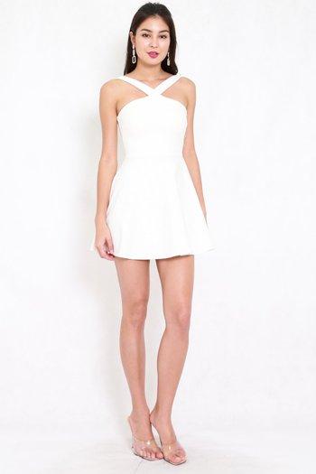 *Premium* Roselle Skater Dress (White)
