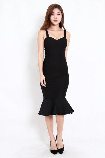*Premium* Sweetheart Mermaid Dress (Black)