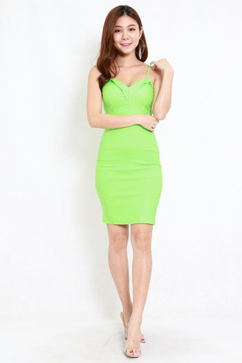 Missha Sweetheart Midi Dress (Lime)