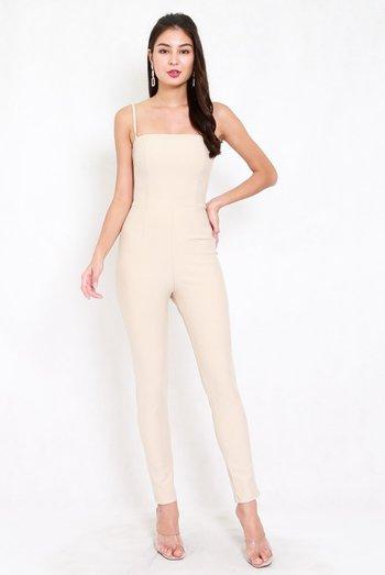 *Premium* Classic Skinny Jumpsuit (Ivory)