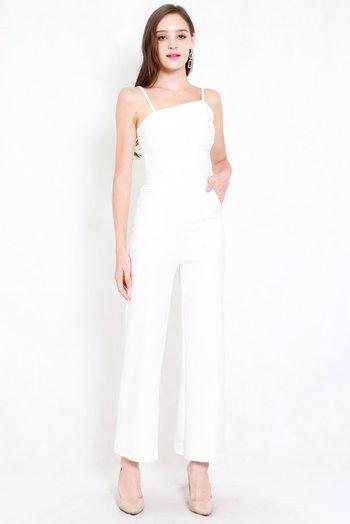 *Premium* Love Me Jumpsuit (White)