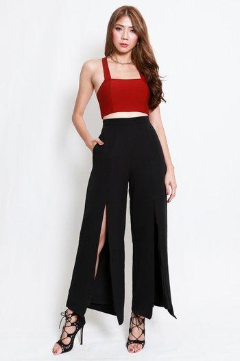 2way Slit Pants (Black)