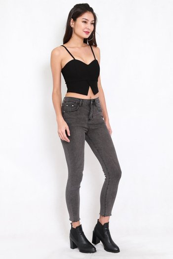 Ibiza Fray Hem Jeans (Grey)