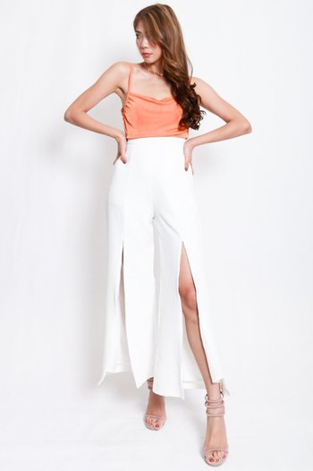 Erica Cowl Neck Top (Orange)