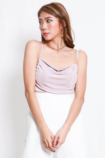 Erica Cowl Neck Top (Pinkish Nude)