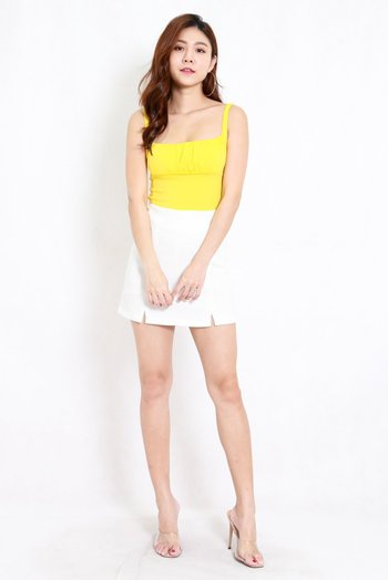 Ruched Front Top (Yellow)