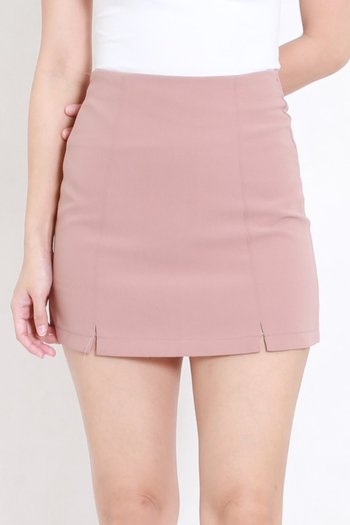 Vanessa Double Slit Skirt (Blush)