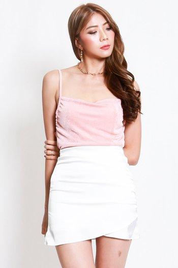Erica Cowl Neck Top (Peach Pink)