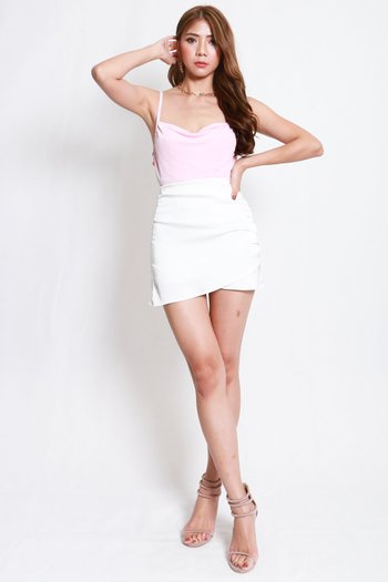 Erica Cowl Neck Top (Pale Pink)
